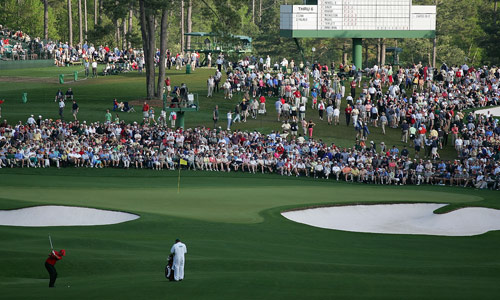 Entrance to the 2nd Green at Augusta National