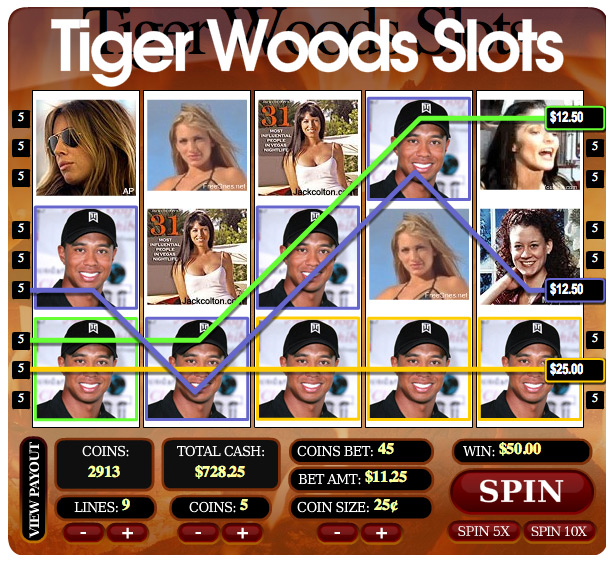 Introducing The Tiger Woods Mistress Slot Machine Golfcrunch