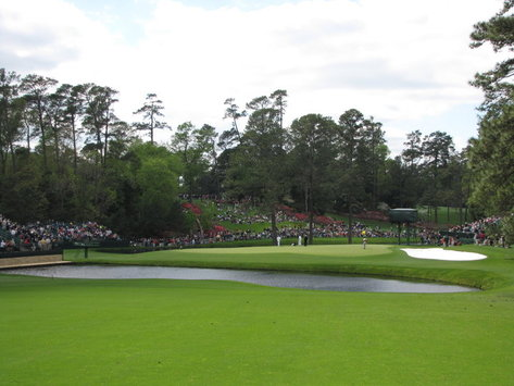The 15th Green at Augusta National