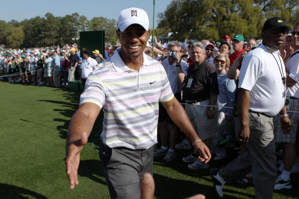 Tiger Shaking Hands at The 2010 Masters