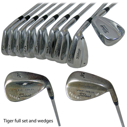 Tiger Woods' 'Tiger Slam' Irons up for Grabs on eBay