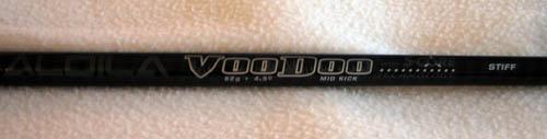 The Aldila Voodo stiff flex shaft