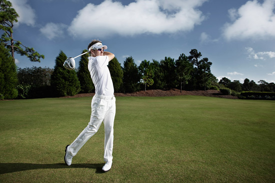 Ian Poulter and his new Cobra All-White ZL Driver